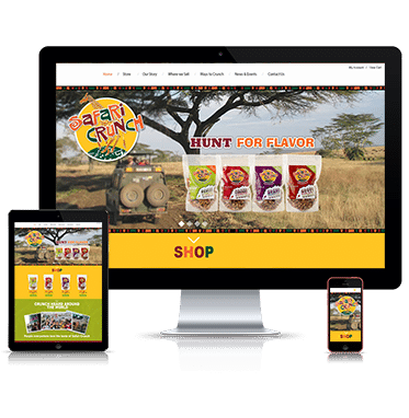 Straightfire Marketing develop a new brand and online presence for Safari Crunch