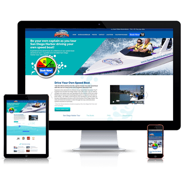 Our wordpress developers develops website development for speed boat adventures