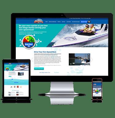 Our wordpress developers develops website development for speed boat adventures